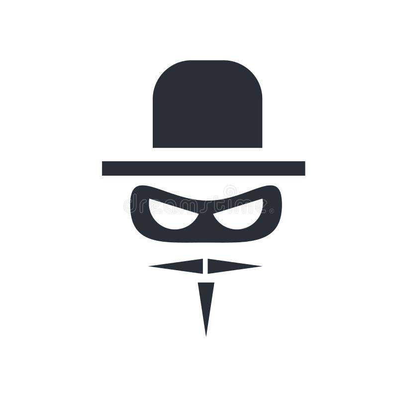 Het het vectordieteken en symbool van het Zorropictogram op witte achtergrond wordt geïsoleerd vector illustratie