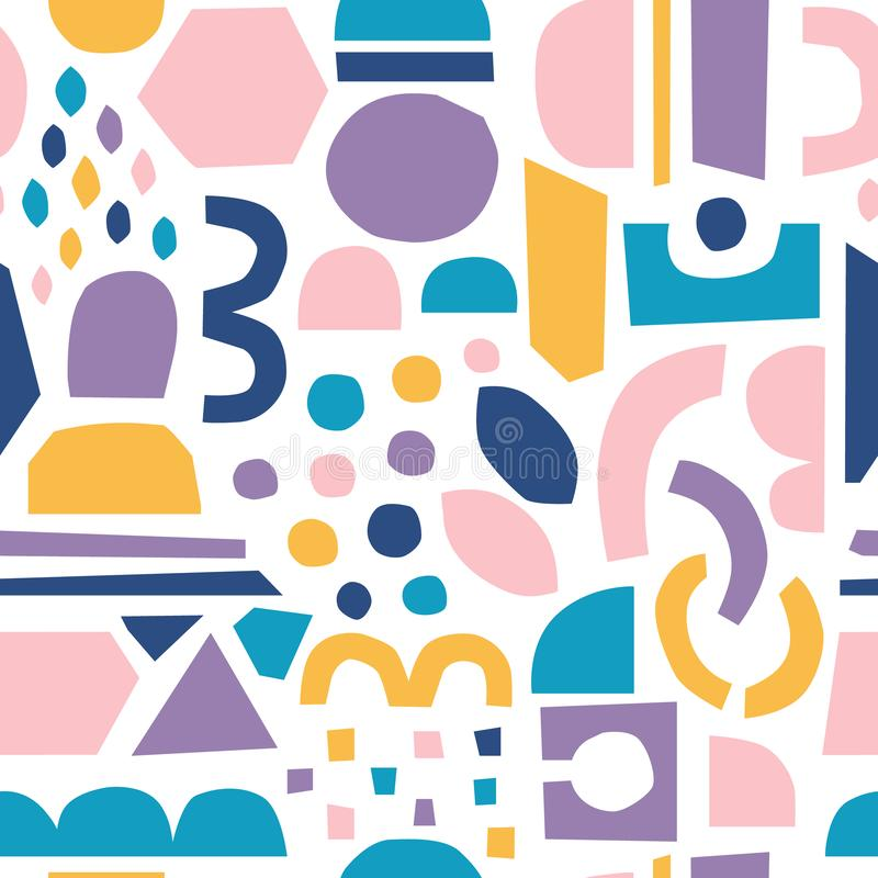 Het vectordocument sneed stukken In abstracte Document knipsels royalty-vrije illustratie