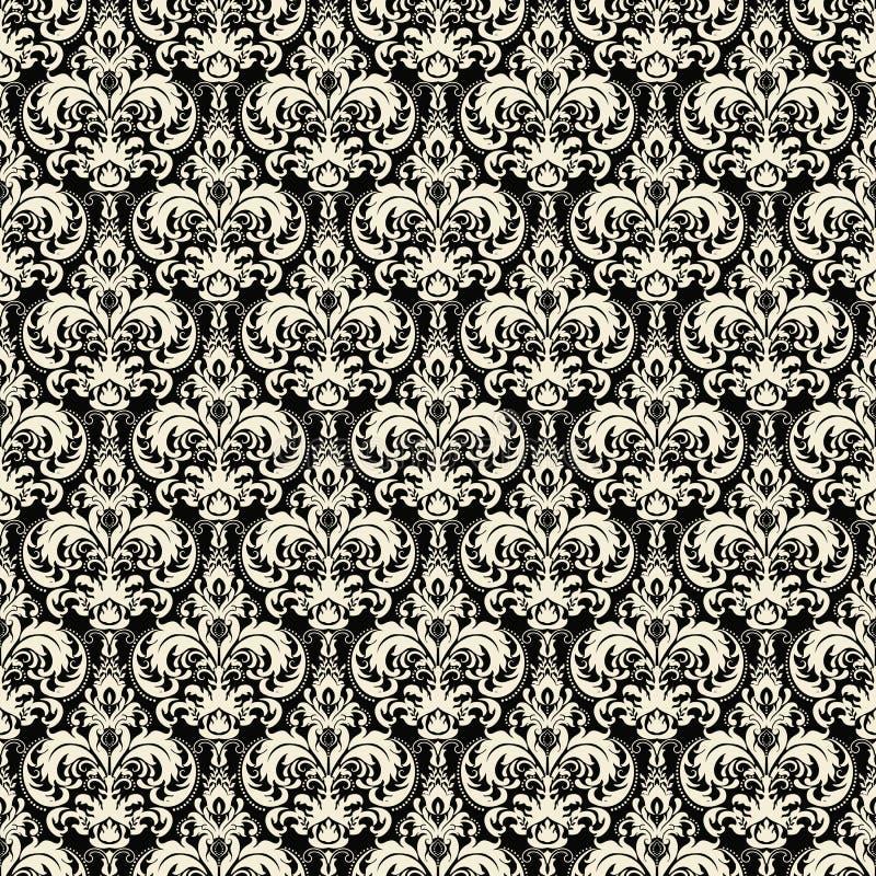Het vectorelement van het damast naadloze patroon De elegante luxetextuur voor behang, de achtergronden en de pagina vullen royalty-vrije illustratie