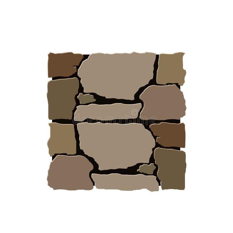 Het vectorelement van de steeninstallatie vector illustratie