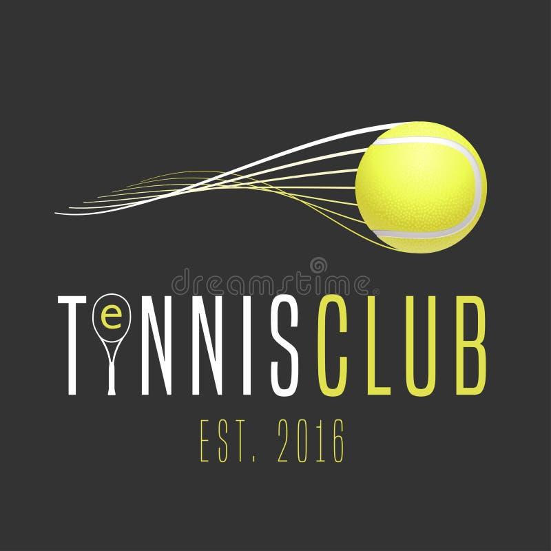 Het vectorembleem van de tennisclub vector illustratie