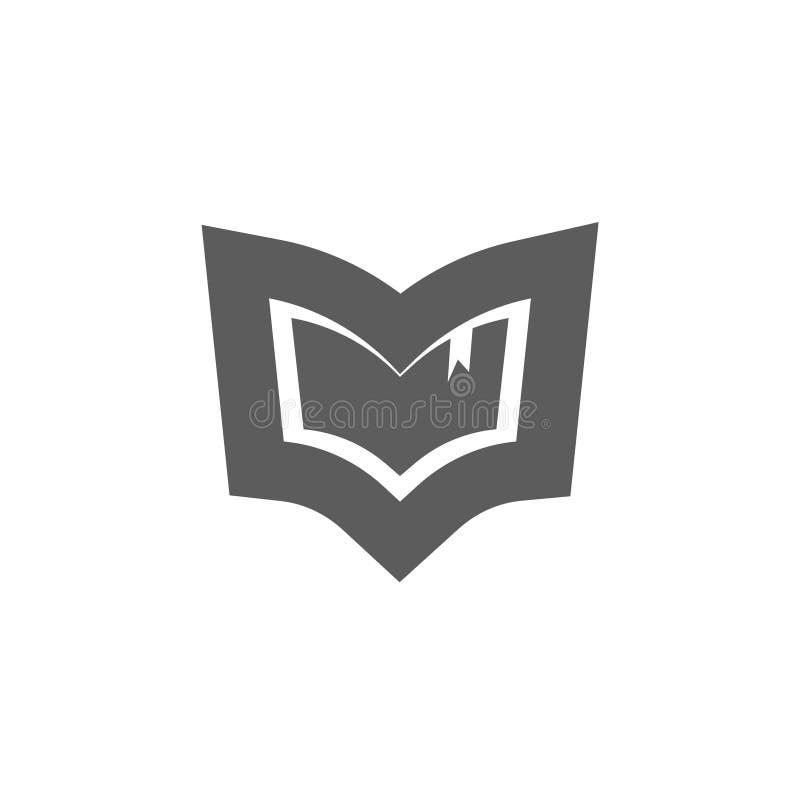 Het vectorembleem van het boekembleem, concept bibliotheek logotype stock illustratie