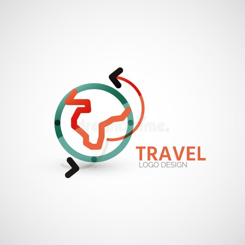 Het vectorembleem van het reisbedrijf, bedrijfsconcept stock illustratie