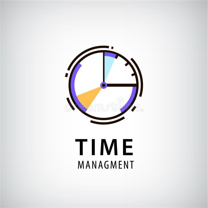 Het vectorembleem van het tijdbeheer royalty-vrije illustratie