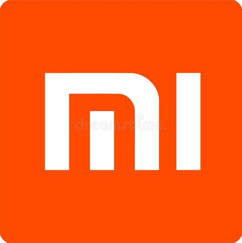 Het vectorembleem van het Xiaomibedrijf vector illustratie