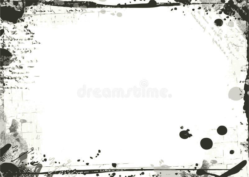 Het VectorFrame van Grunge stock illustratie