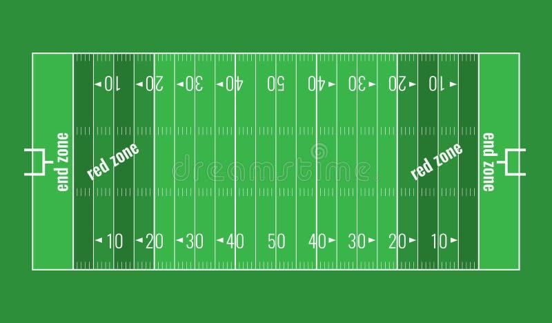 Het vectorgebied van de gras geweven Amerikaanse voetbal stock illustratie