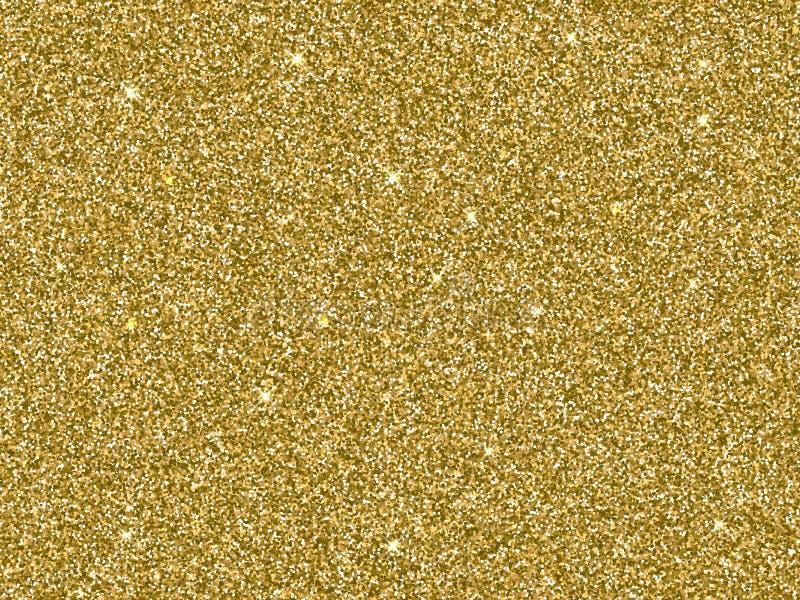 Het vectorgoud schittert gouden textuur als achtergrond royalty-vrije illustratie
