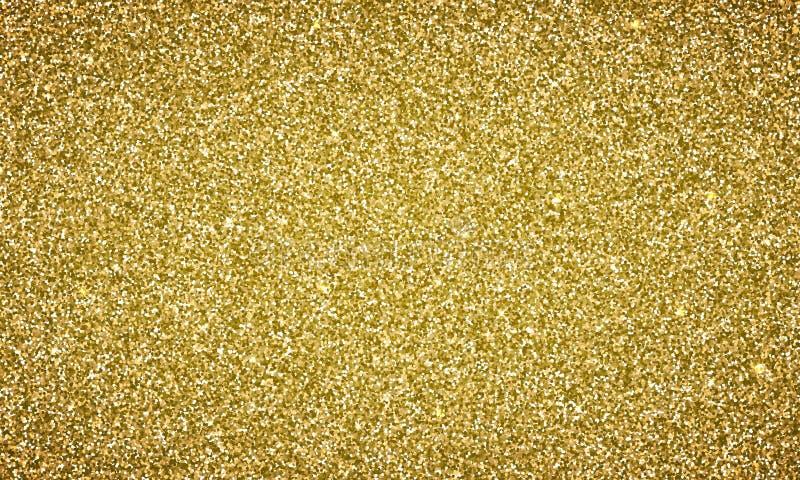Het vectorgoud schittert gouden textuur als achtergrond vector illustratie
