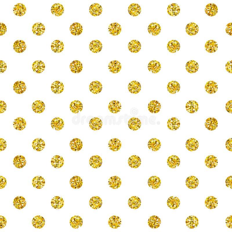 Het vectorgoud schittert naadloos patroon royalty-vrije illustratie