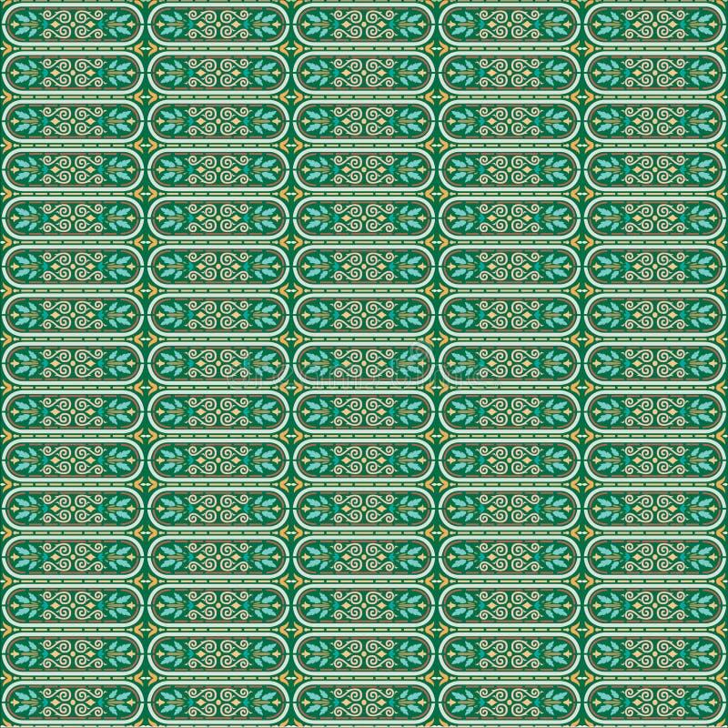 Het vectorilustration-Patroon Art Deco, Arabesque-Ontwerpart. van het Achtergrondbehangornament stock afbeeldingen