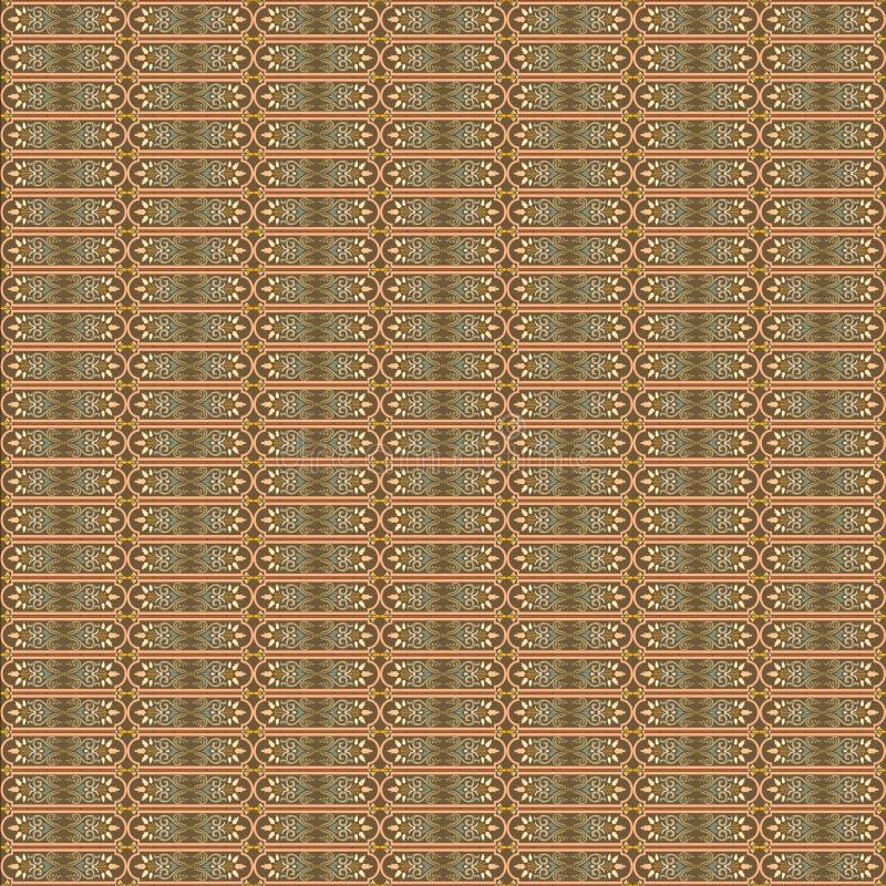 Het vectorilustration-Patroon Art Deco, Arabesque-Ontwerpart. van het Achtergrondbehangornament royalty-vrije stock fotografie