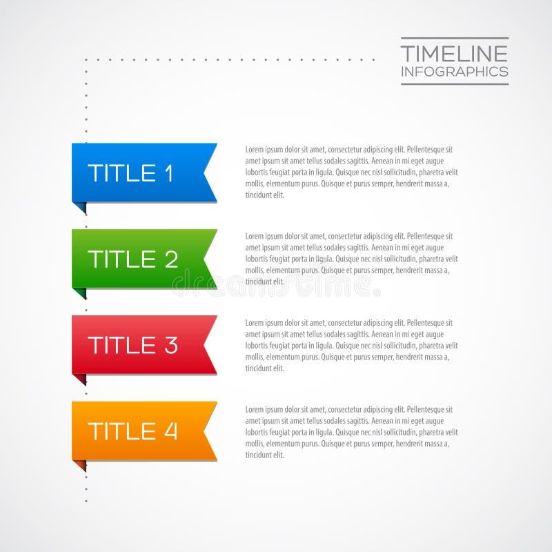 Het vectorinfographic-malplaatje van het chronologierapport vector illustratie