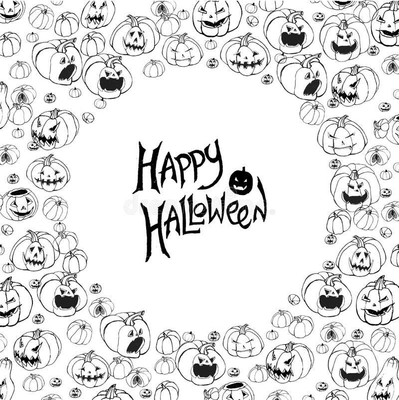 Het vectorkader van Halloween royalty-vrije illustratie