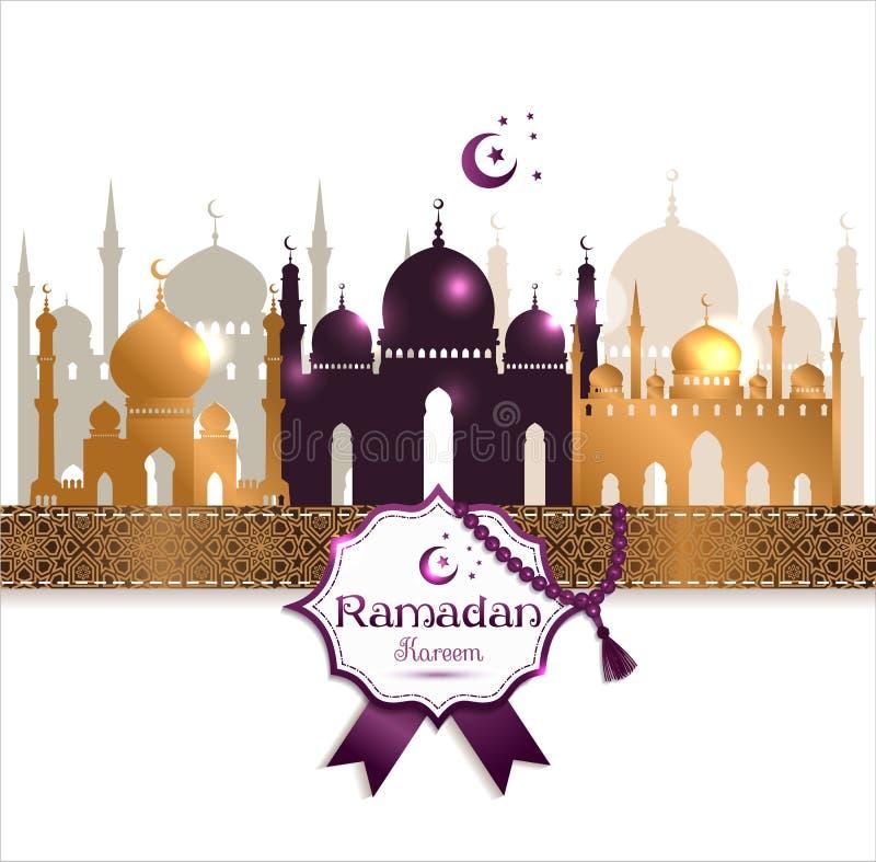 Het vectorkader van illustratie Arabische ramadan kareem