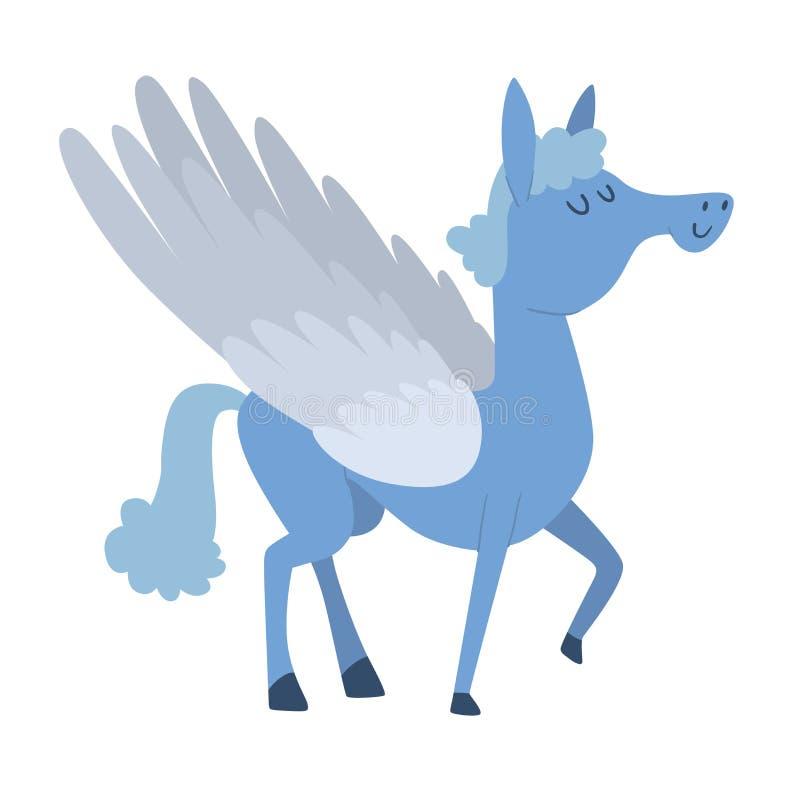 Het vectorkarakter van het beeldverhaalpaard royalty-vrije illustratie