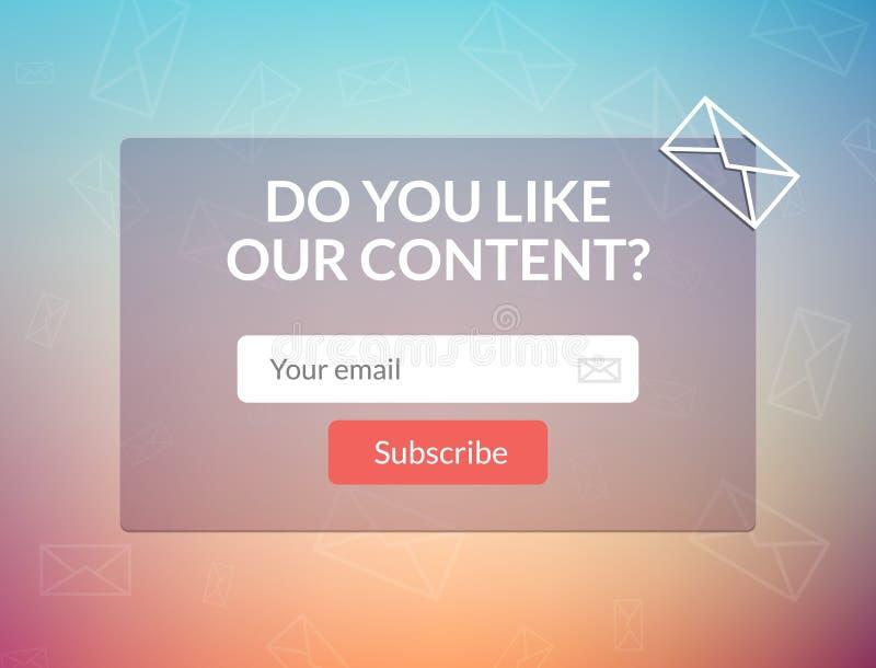 Het vectormalplaatje e-mail tekent in Leg vorm voor de banner van de websitee-mail brief voor stock illustratie
