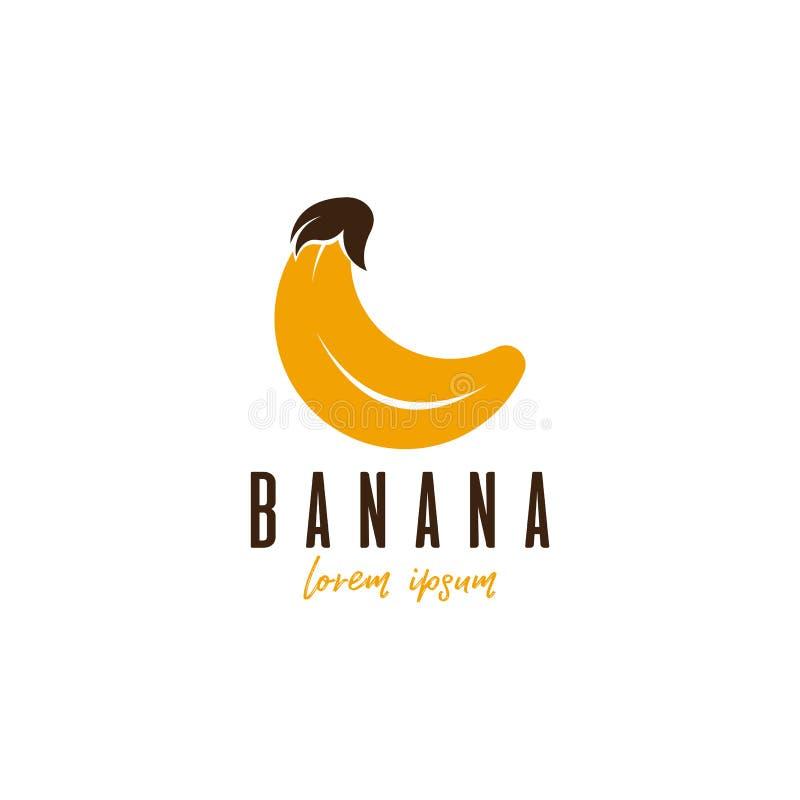 Het vectormalplaatje van het banaanembleem Embleemmalplaatje voor uw zaken stock illustratie