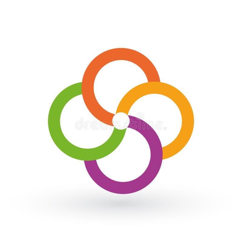 Het vectormalplaatje van cirkelinfographics voor ronde grafiek, diagram, Webontwerp, presentatie, werkschemalay-out Bedrijfsconce vector illustratie