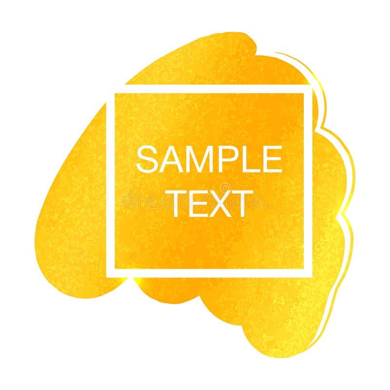 Het vectormalplaatje van de Golgfolie voor kaarten Achtergrondkwaststreek, feestelijke uitnodigingen, affiches, kaartenmalplaatje vector illustratie