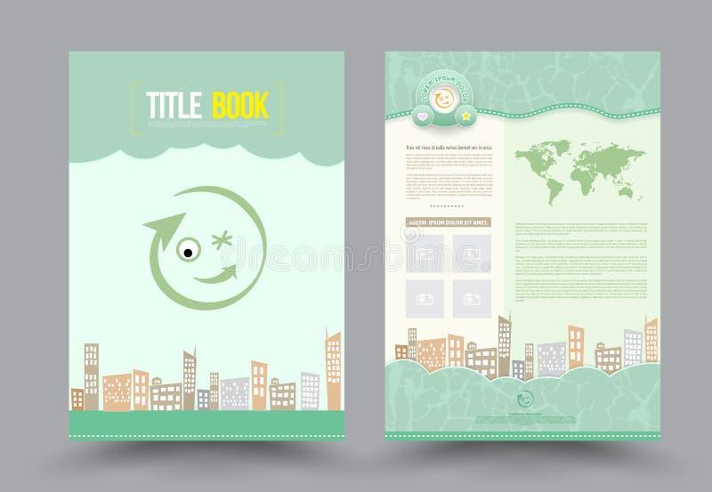 Het vectormalplaatje van de het ontwerplay-out van de Brochurevlieger vector illustratie