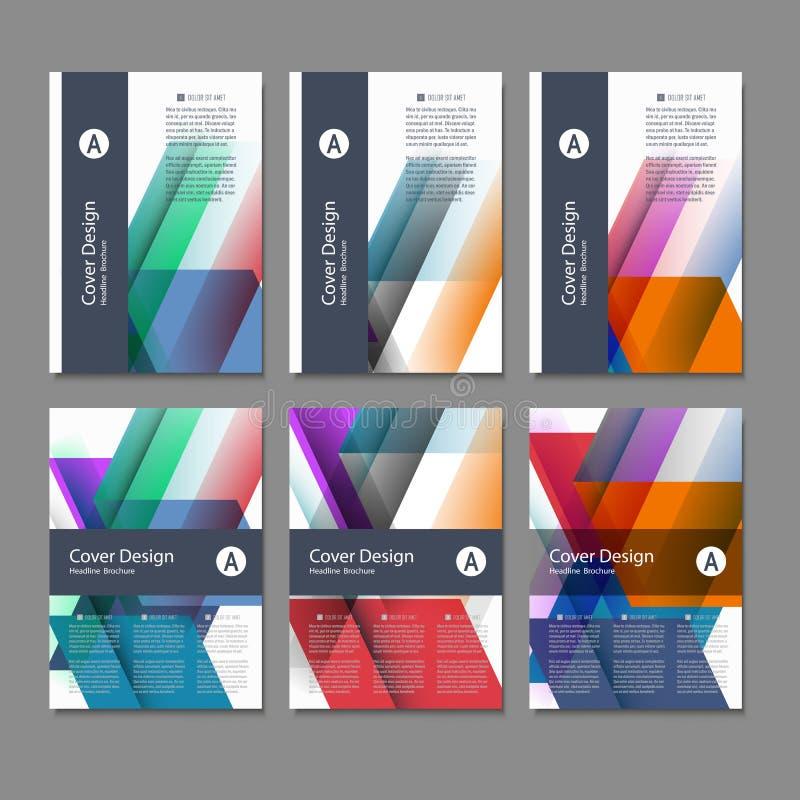 Het vectormalplaatje van de het ontwerplay-out van de Brochurevlieger, grootte A4, Voorpagina en achterpagina Gebruik voor uw ont stock illustratie