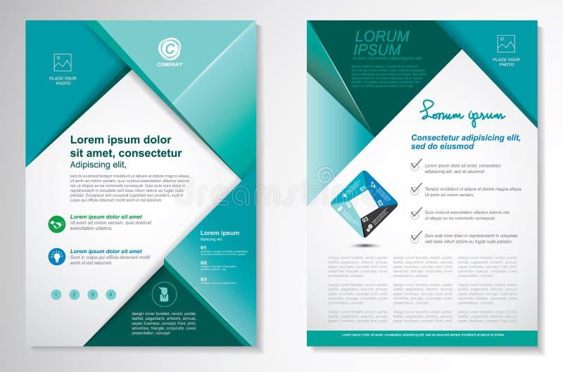 Het vectormalplaatje van de het ontwerplay-out van de Brochurevlieger Infographic stock afbeelding