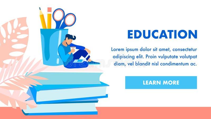 Het Vectormalplaatje van de onderwijsinstellingshomepage royalty-vrije illustratie