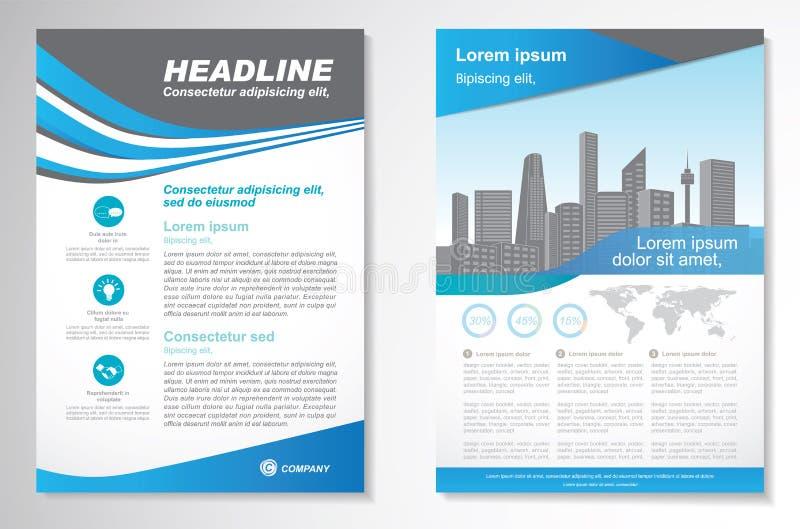 Het vectormalplaatje van de het ontwerplay-out van de Brochurevlieger, grootte A4, Voorpagina en achterpagina, infographics Gemak stock afbeelding