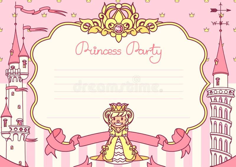 Het vectormalplaatje van de Prinsespartij vector illustratie