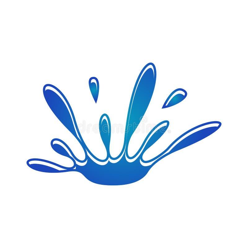 Het vectormalplaatje van de waterplons royalty-vrije illustratie