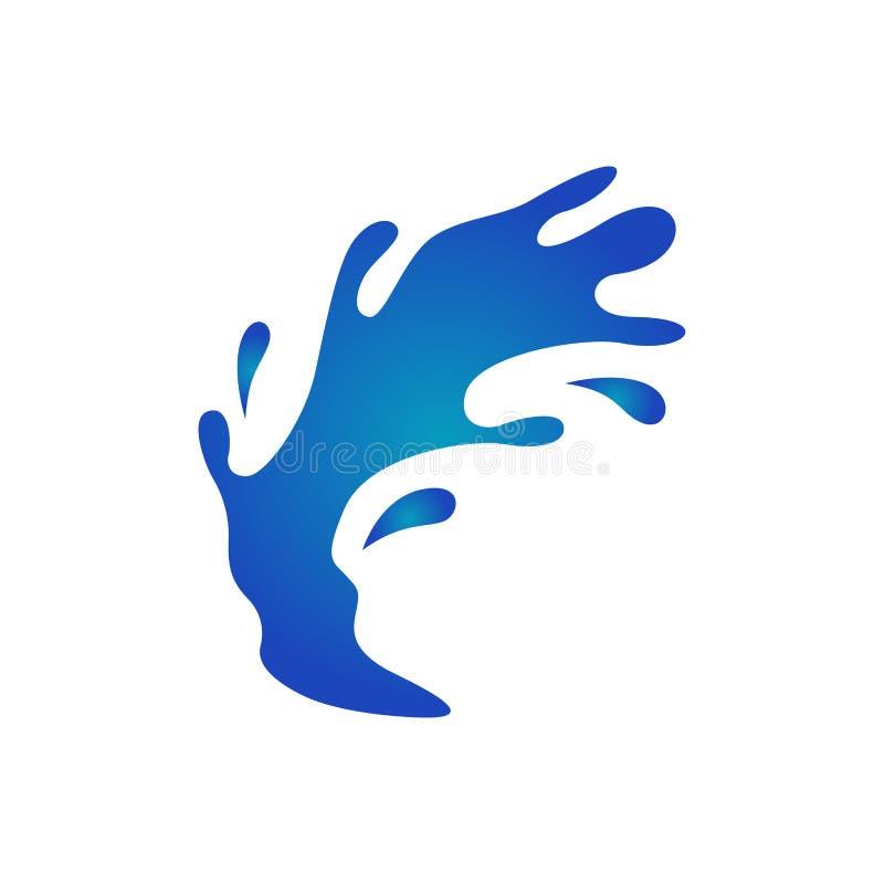 Het vectormalplaatje van de waterplons stock illustratie
