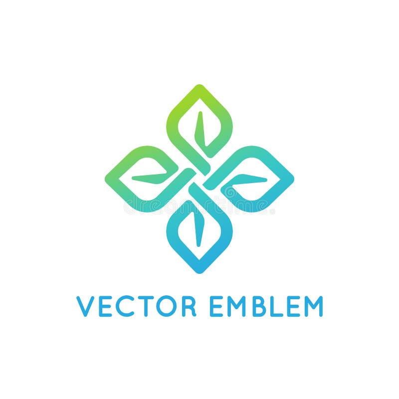 Het vectormalplaatje van het embleemontwerp - schoonheid en organisch concept vector illustratie