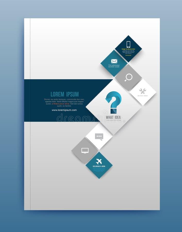 Het vectormalplaatje van het brochureontwerp royalty-vrije illustratie