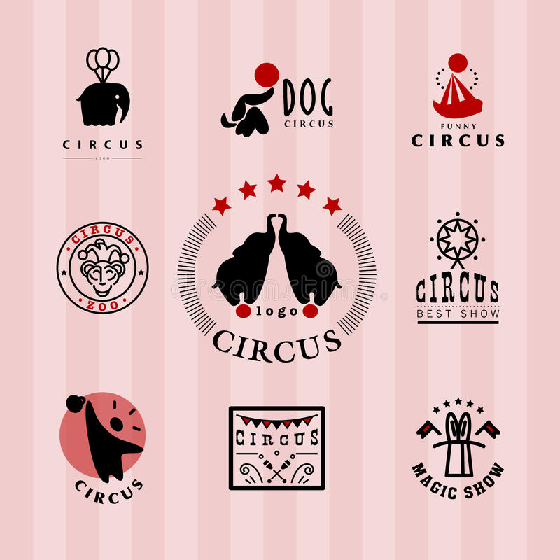Het vectormalplaatje van het circusembleem stock illustratie