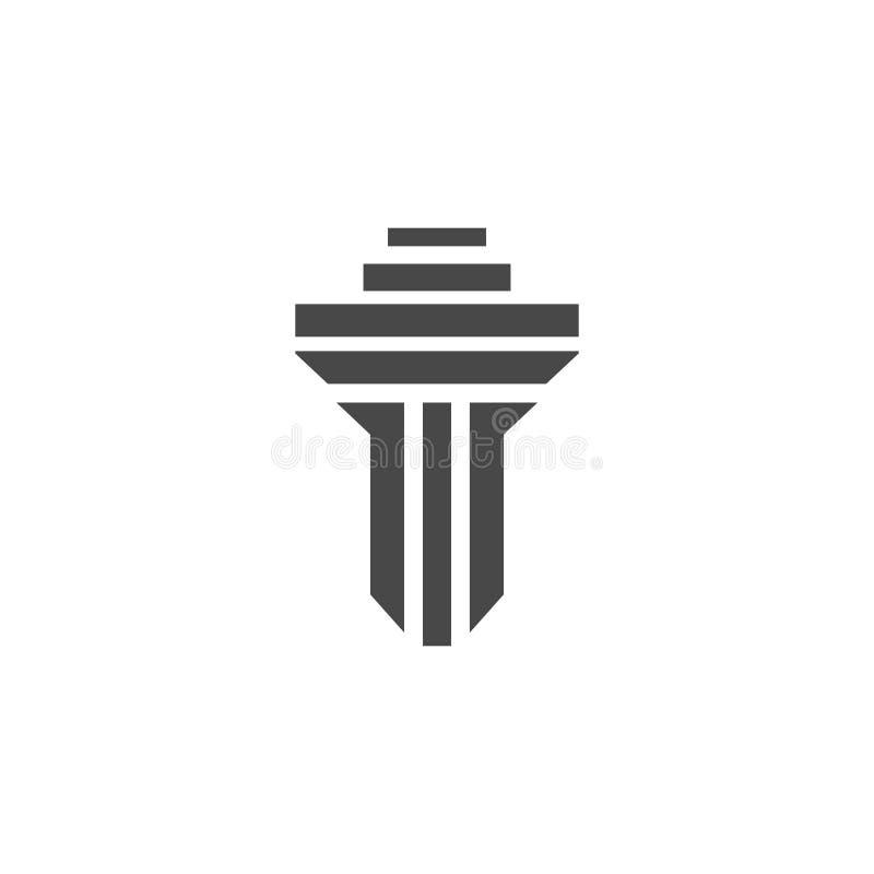 het vectormalplaatje van het kolomembleem stock illustratie