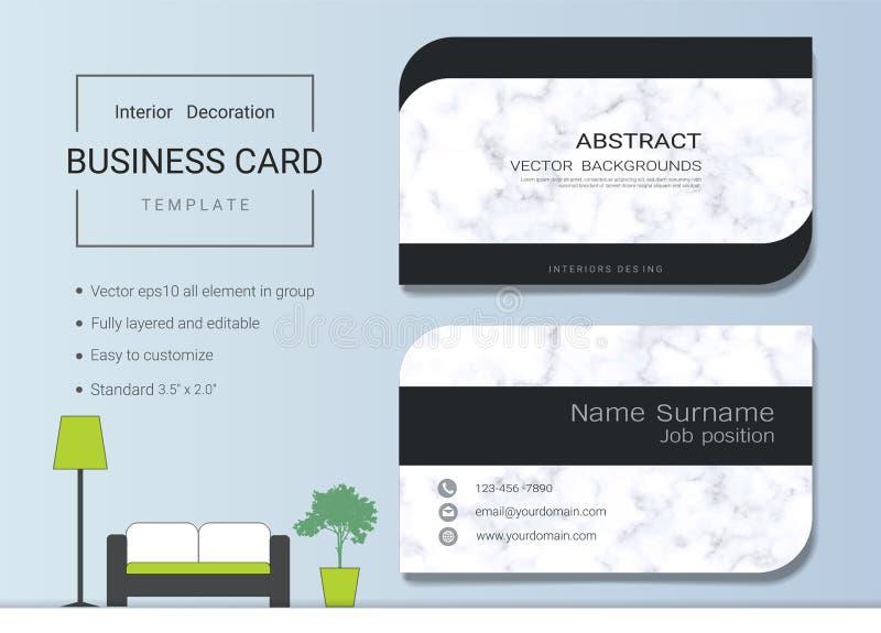 Het vectormalplaatje van luxeadreskaartjes royalty-vrije illustratie
