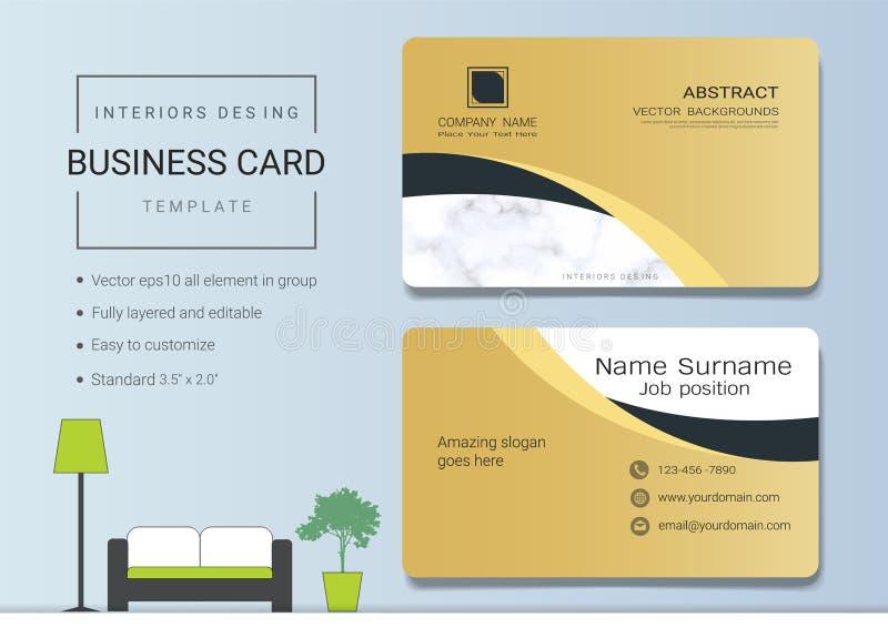 Het vectormalplaatje van luxeadreskaartjes stock illustratie