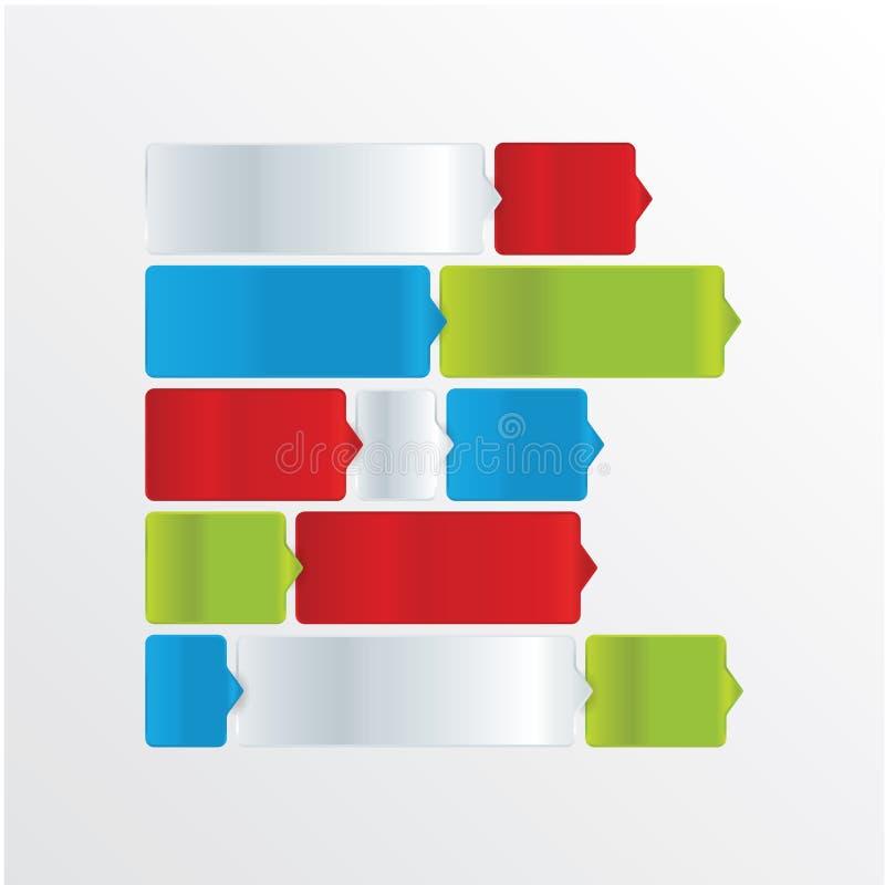 Het vectormalplaatje van Minimalistic. Moderne editable lagen met ruimte royalty-vrije illustratie