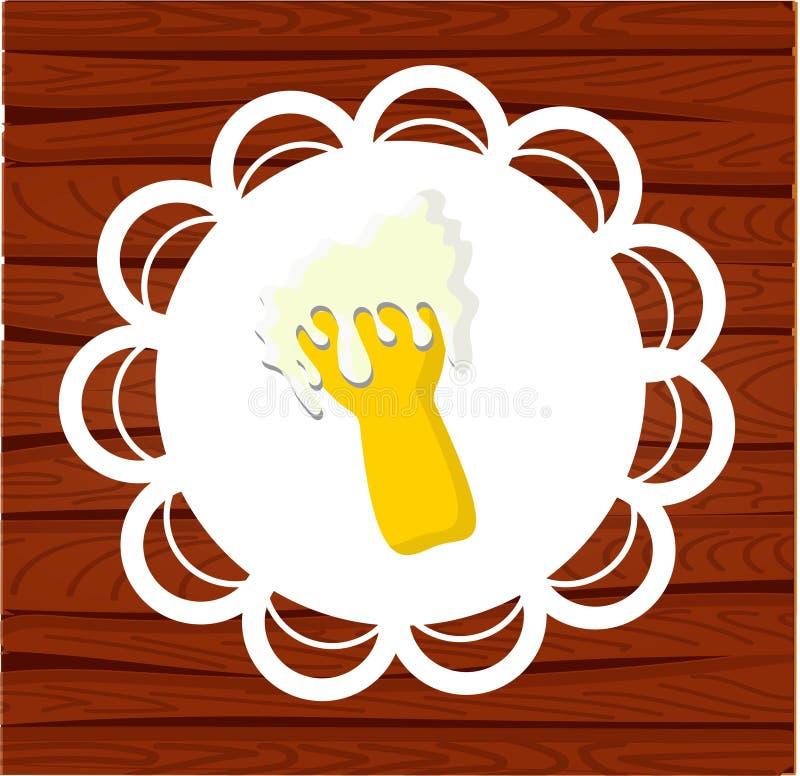 Het vectormalplaatje van het Oktoberfestontwerp voor banners, affiches, vliegers, menu's, enz. MULTIkarakter royalty-vrije illustratie