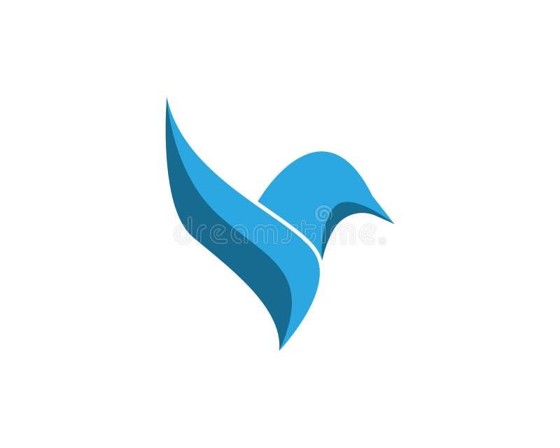 Het vectormalplaatje van het vogelembleem stock fotografie