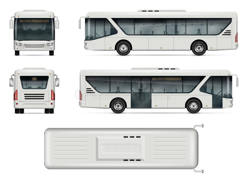 Het vectormodel van de stadsbus royalty-vrije illustratie