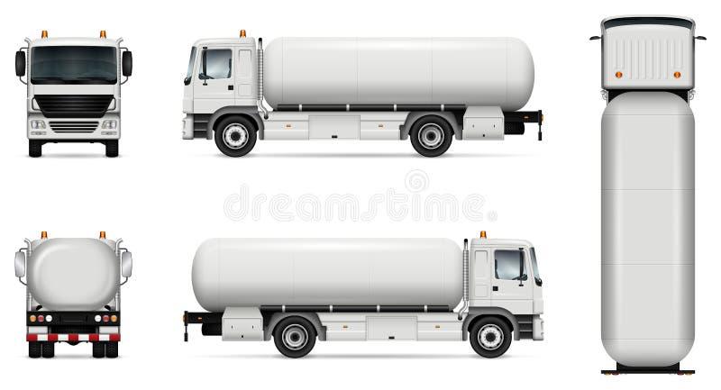 Het vectormodel van de tankervrachtwagen stock illustratie