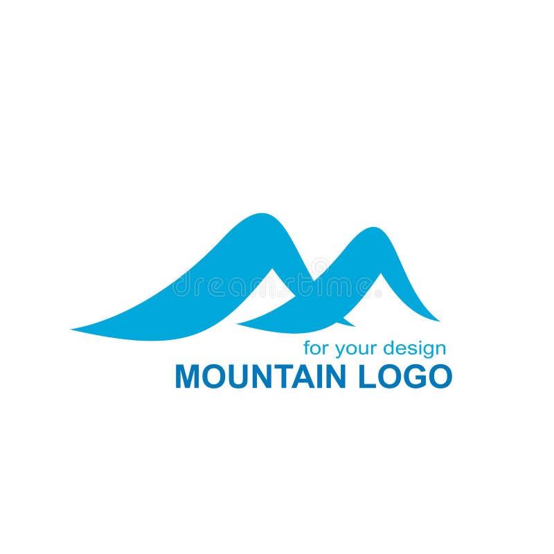 Het vectorontwerp van het bergembleem, m-brievenembleem royalty-vrije illustratie