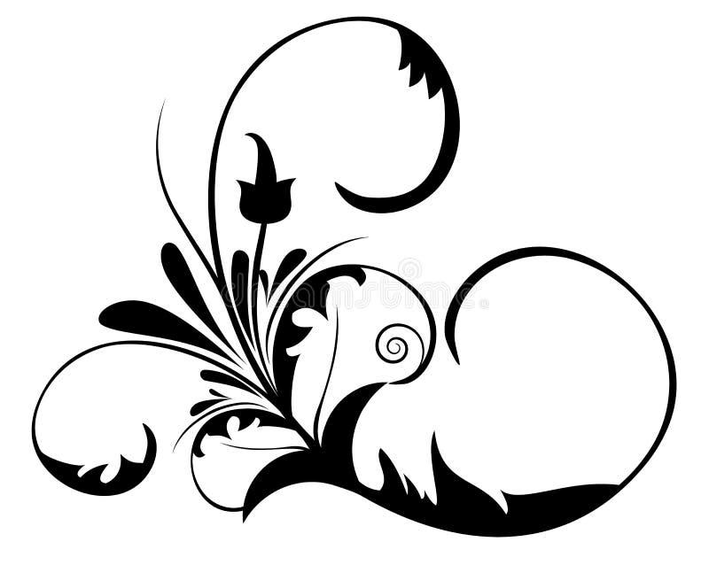 Het vectorontwerp van de bloem royalty-vrije illustratie