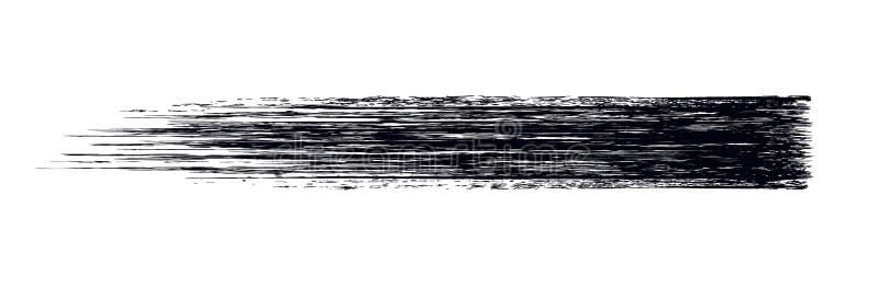 Het vectorontwerp van de de borstelslag van de samenstellings kosmetische die mascara op wit wordt geïsoleerd Het realistische ma vector illustratie