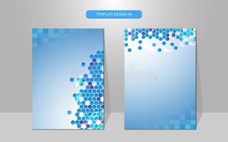 Het vectorontwerp van de het conceptendekking van de achtergrondtechnologiewetenschap royalty-vrije illustratie