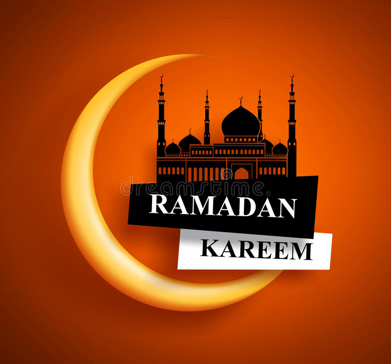 Het vectorontwerp van de Ramadan kareem groet voor het vasten van moslims