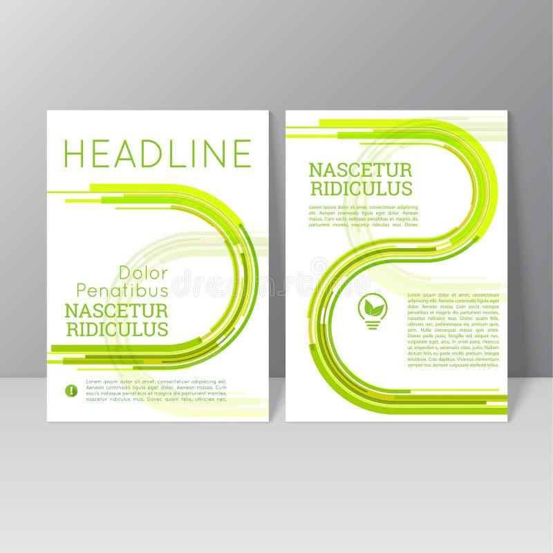 Het vectorontwerp van het brochuremalplaatje stock illustratie