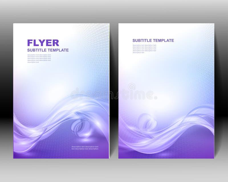 Het vectorontwerp van het brochuremalplaatje vector illustratie